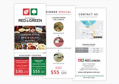 Restaurant Red & Green DL Brochure