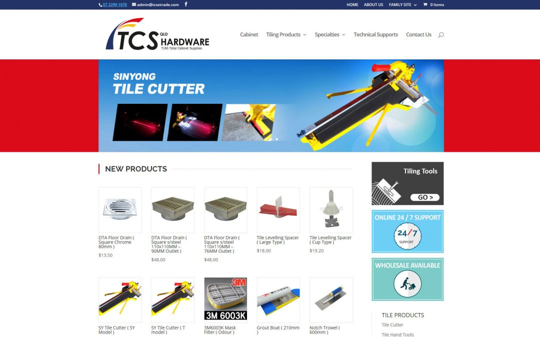 TCS – Hardware Online Shop